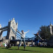 London Tower Bridge Jump Shot