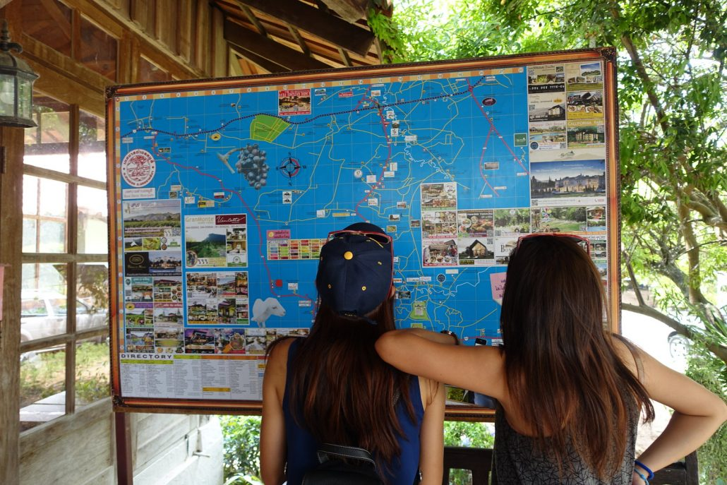 Looking At Khao Yai Map
