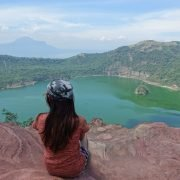 Taal Volcano In Tagaytay Of Philippines