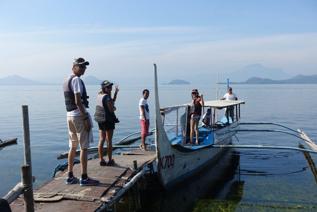 Boarding The Boat To Taal Volcano In Tagaytay