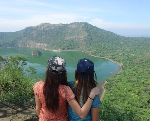 Manificent View Of Taal Volcano In Tagaytay
