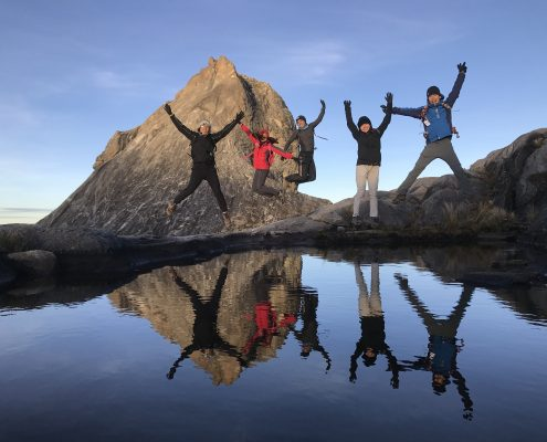 Mount Kinabalu Summit Reflection Pool